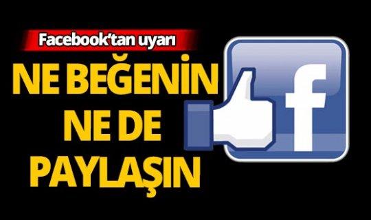 Facebook 'uyarı' bildirimi gönderecek