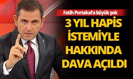 Fatih Portakal hakkında 3 yıla kadar hapis istemi
