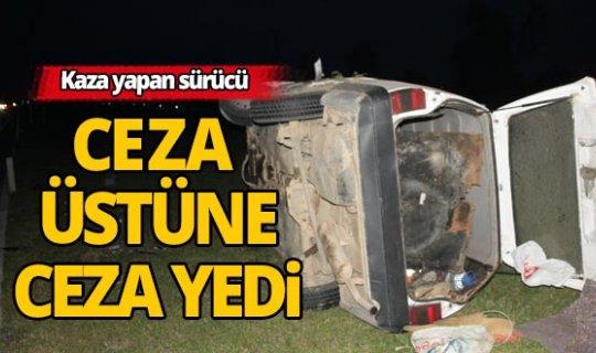 Manavgat'ta kaza yapan sürücüye ceza yağdı