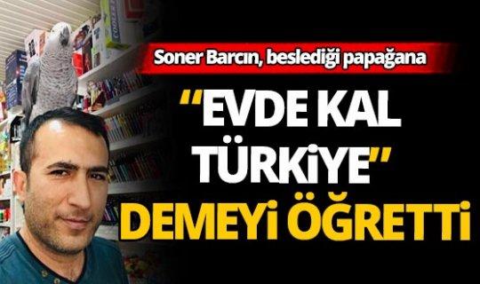 """Papağandan """"Evde kal Türkiye"""" çağrısı"""