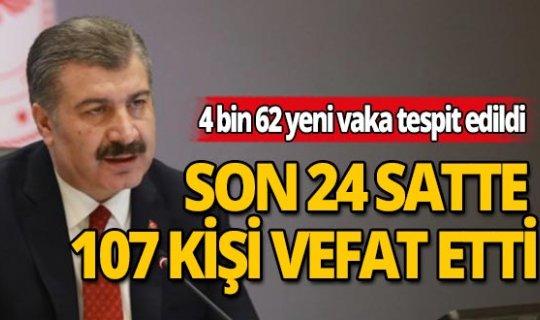 Sağlık Bakanı Fahrettin Koca: Vaka sayısı artış hızı, test sayısındaki artışa rağmen sabit kalma eğiliminde