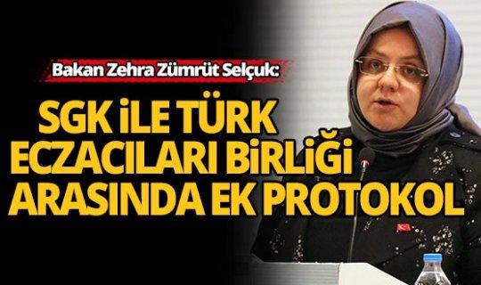 SGK ile Türk Eczacıları Birliği arasında ek protokol imzalandı