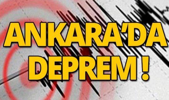 Son dakika: Ankara'da deprem!