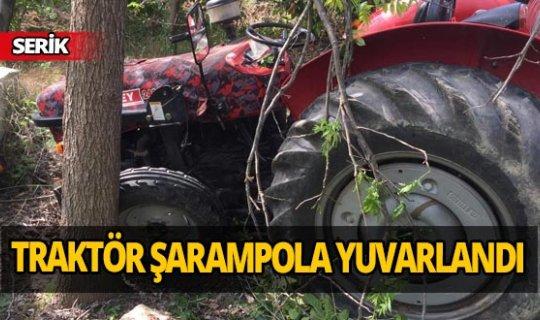 Traktörden düşen sürücü ağır yaralandı