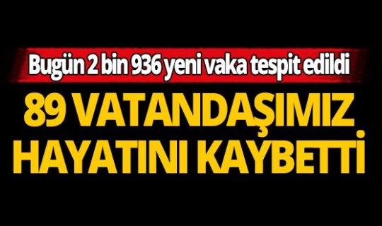 Türkiye'de son 24 saatte 89 kişi hayatını kaybetti