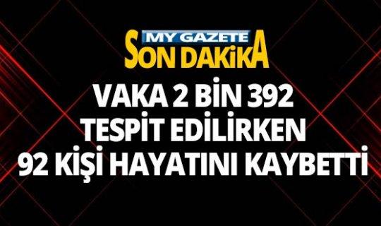 Türkiye'de son 24 saatte 92 kişi hayatını kaybetti