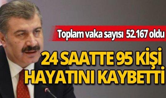 Türkiye'de son 24 saatte korona virüs nedeniyle 95 kişi hayatını kaybetti
