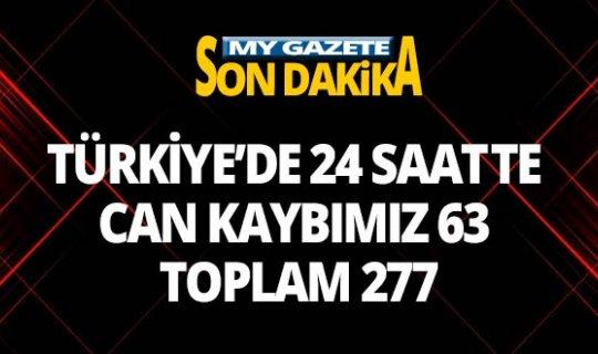 Türkiye'de 24 saatte can kaybımız 277'e, vaka sayısı ise 15 bin 679'e yükseldi