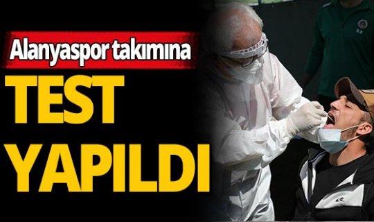 Alanyaspor'da futbolcular ve teknik ekibin korona virüs testi...