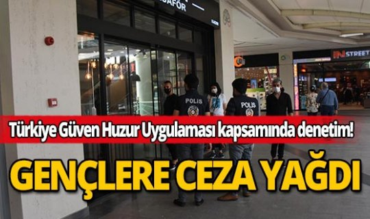 Antalya'da 20 yaş altı 3 şahsa 6 bin 692 TL ceza