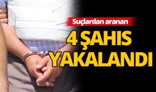 Antalya'da çeşitli suçlardan aranan 4 şahıs yakalandı