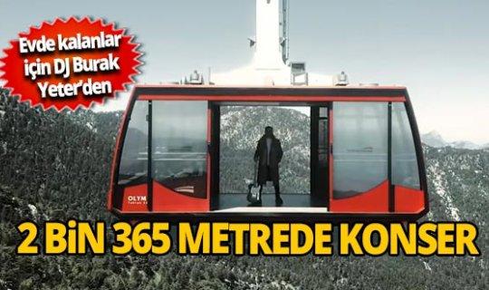 Antalya'da evde kalanlar için 2 bin 365 metrede konser