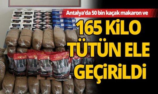 Antalya'da kaçak tütün operasyonu