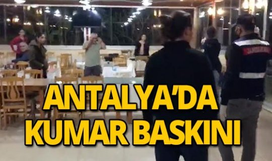 Antalya'da kumar baskınına 160 bin TL para cezası!
