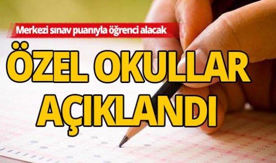 Antalya'da Merkezi sınav puanıyla öğrenci alacak özel okullar açıklandı