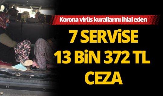 Antalya'da servislere ceza yağdı