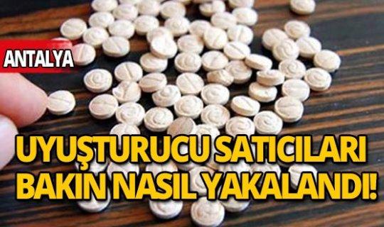 Antalya'da uyuşturucu satıcıları bakın nasıl yakalandı