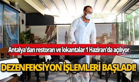 Antalya'dan restoran ve lokantalar 1 Haziran'a hazırlanıyor