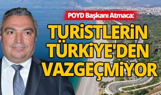 Antalya'dan vazgeçemeyen turistler rezervasyonlarını iptal etmek yerine öteledi