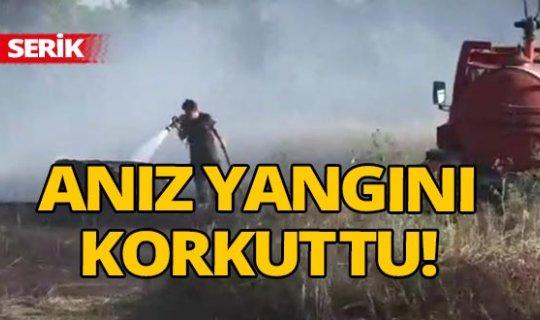 Antalya'da anız yangını
