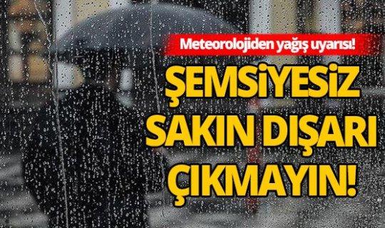 Antalyalılara yağış uyarısı!