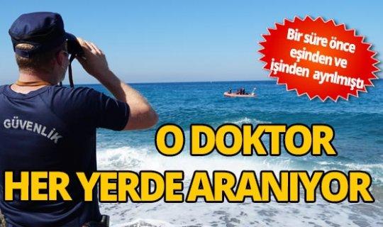 Denizde kaybolan doktoru arama çalışmaları sürüyor