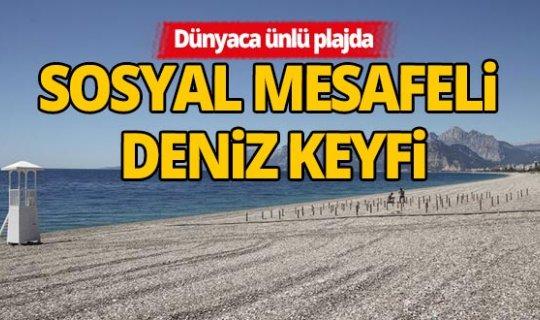 Dünyaca ünlü plajda 'deniz keyfi' sosyal mesafeli olacak