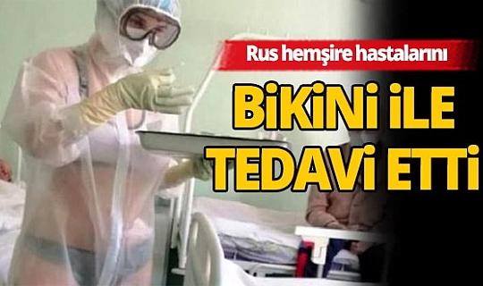 Hastaları bikiniyle tedavi eden Rus hemşire özür diledi