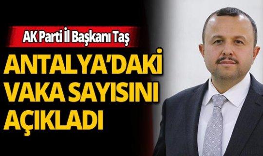 İl Başkanı İ.Ethem Taş Antalya'daki güncel koronavirüs vaka ve ölüm sayılarını açıkladı