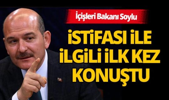 İçişleri Bakanı Soylu, 12 Nisan'da neden istifa etti? İlk kez açıkladı...