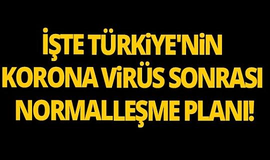 İşte Türkiye'nin Korona Virüs sonrası normalleşme planı