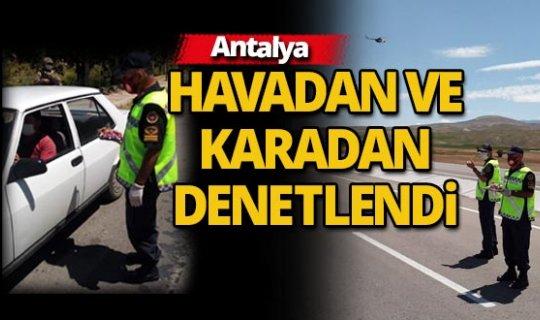 Jandarma Antalya trafiğini yerden ve havadan denetledi