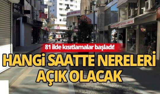 Antalya'da kısıtlamada nereleri hangi saatte açık olacak?