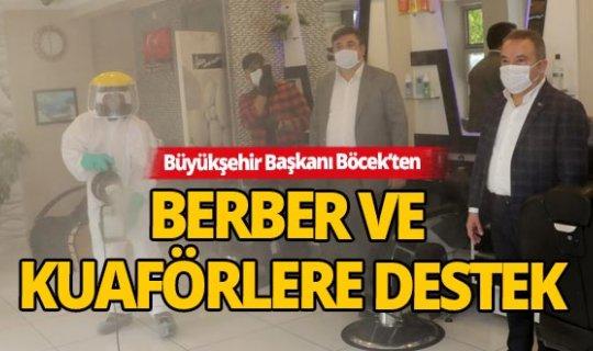 Kuaför ve berberlerin temizliği ve maskesi Büyükşehir'den