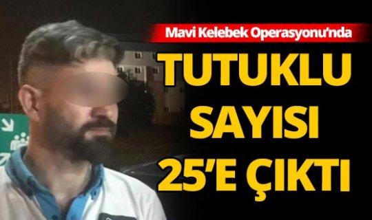 Mavi Kelebek operasyonunda tutuklu sayısı 25 oldu