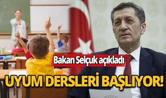 Milli Eğitim Bakanı Ziya Selçuk: Salgın sonrasında uyum dersleri başlatılacak
