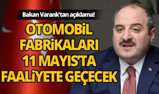Sanayi ve Teknoloji Bakanı Mustafa Varank önemli açıklama!