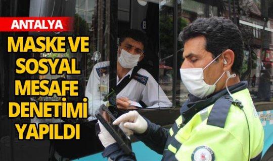 Sürücü ile yolculara maske ve sosyal mesafe denetimi