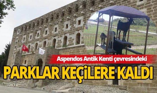 Tarihi Aspendos Antik Kenti ve bölge esnafı gün sayıyor