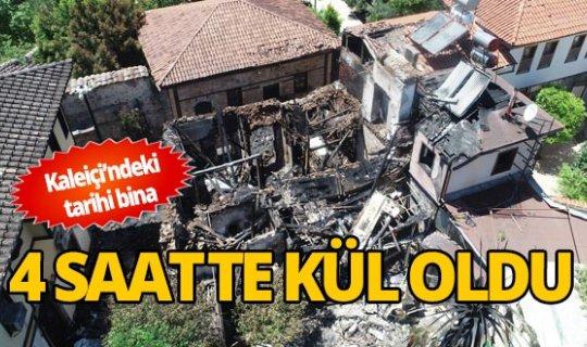 Tarihi Kaleiçi'nde çıkan yangın korkuttu