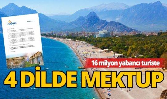 Turistlere güneş ve daha fazlası başlıklı mektup