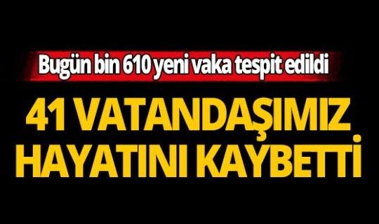 Türkiye'de son 24 saatte 41 kişi yaşamını yitirdi