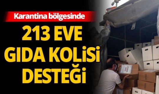 Zeytinköy'de 213 eve gıda kolisi desteği