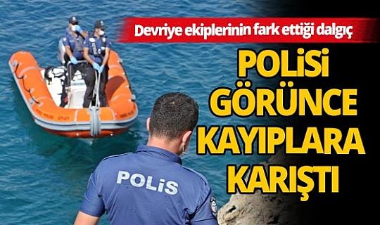 Antalya'da zıpkınlı dalgıç polisi alarma geçirdi