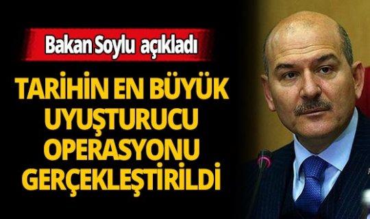 Bakan Süleyman Soylu: Cumhuriyet tarihinin en büyük uyuşturucu operasyonu 'Bataklık' 9 ülkenin iş birliğiyle düzenlendi