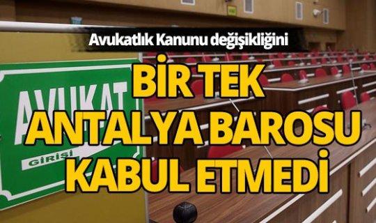 TBB ve 79 barodan 'Avukatlık Kanunu' tartışmalarına ilişkin açıklama