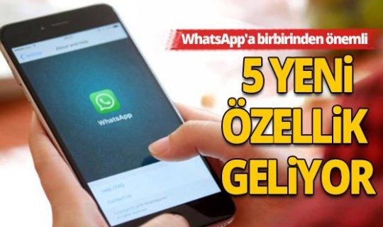 WhatsApp'a birbirinden önemli yeni özellikler geliyor