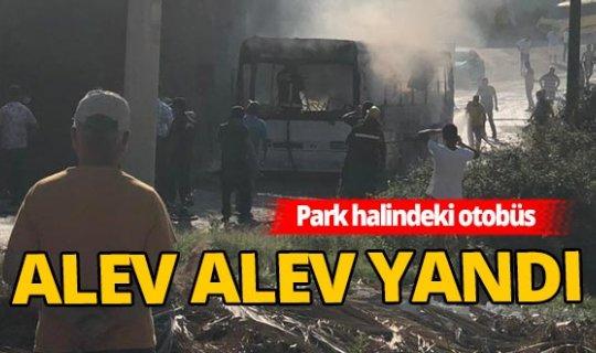 Alanya'da otobüs yangını