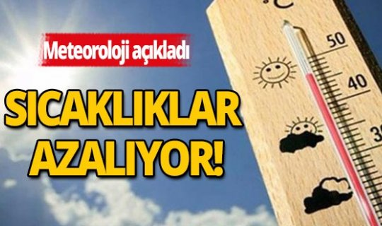 Antalya'da sıcaklıklar azalıyor!