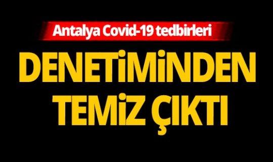 Antalya'da toplam 3 bin 200 denetim yapıldı